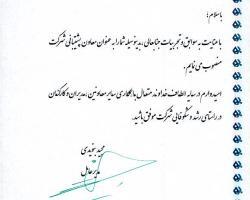 جناب آقای مسعود محمدی به سمت معاون پشتیبانی برگزیده شدند